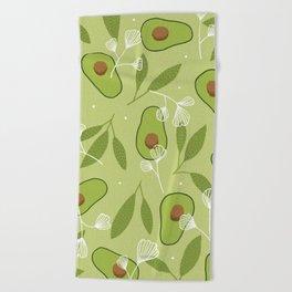 Happy Avocados Beach Towel