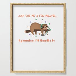 Just give me a few minutes I promise i`ll handle it Koala Bear Cool Gift For Animal Lovers Cute Sleeping Koala Serving Tray