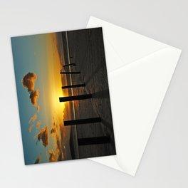 Golden sunset Stationery Cards
