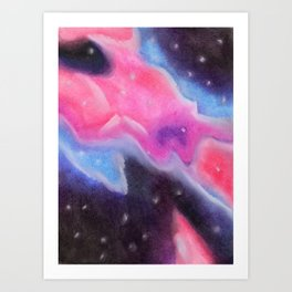 Galaxy in Soft Pastel Art Print