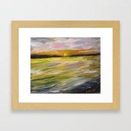 Sunset at Good Harbor Beach Framed Art Print