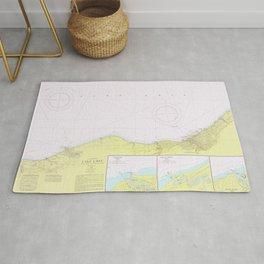 Vintage Lake Erie Coast Map (1965) Rug