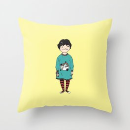 Lightning Bolts, Rainbows, and Toy Watches Throw Pillow