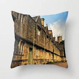 The Almshouses of Chipping Campden Throw Pillow