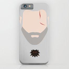 Minimalist Geralt of Rivea - The Witcher iPhone Case