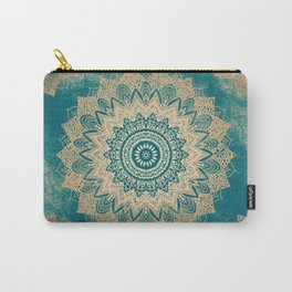 GOLD BOHOCHIC MANDALA IN GREENS Carry-All Pouch