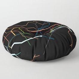 London Tube Map Floor Pillow