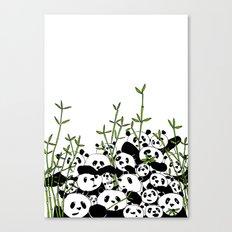 A Pandemonium of Pandas  Canvas Print