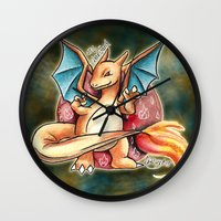 charizard Wall Clocks featuring 6 - charizard by Lyxy