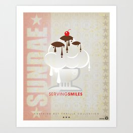 SERVING SMILES - ABV Collection Art Print