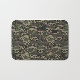 Sloth Camouflage Bath Mat