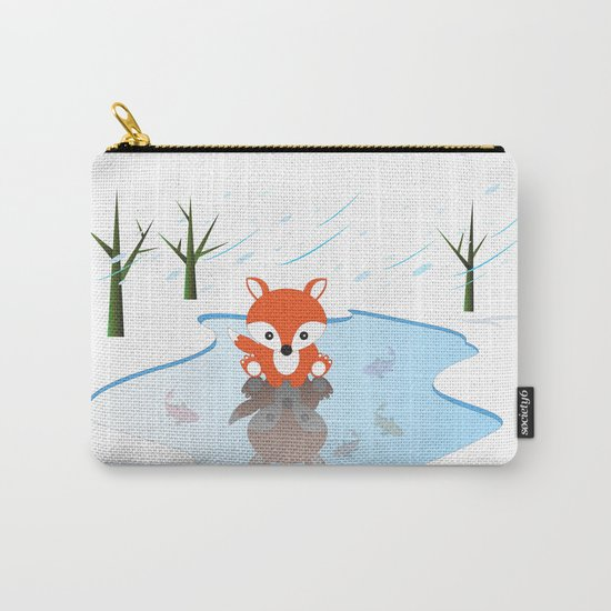 Little Fox On Ice Carry-All Pouch
