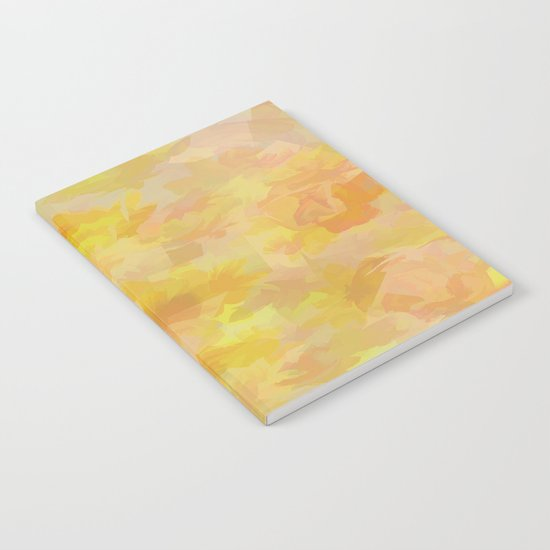 Floating Flowers Painterly Abstract Notebook