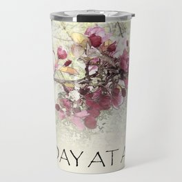 One Day at a Time Pink Blossoms Travel Mug