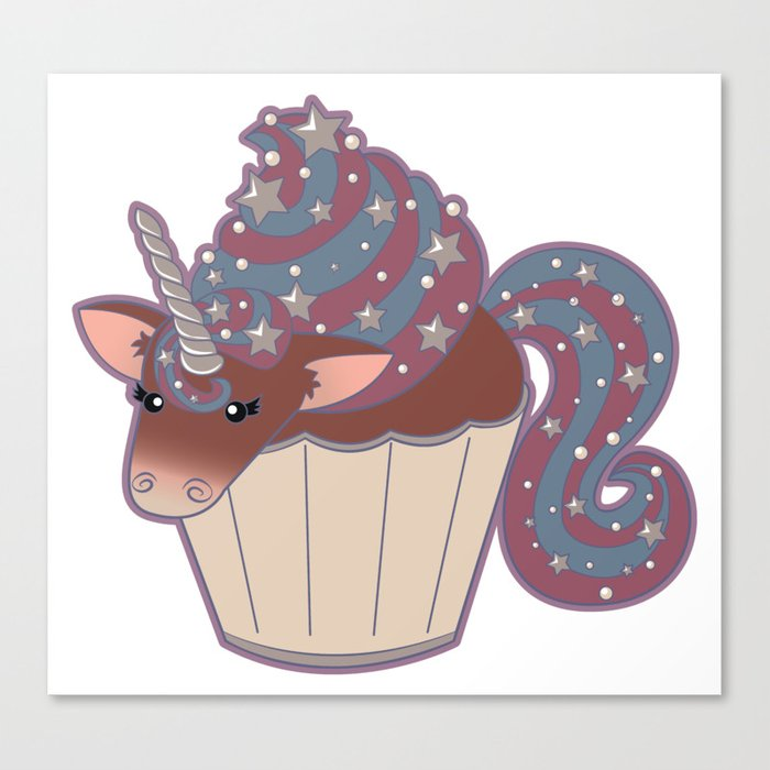 Cupcake Unicorn! Canvas Print