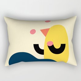 Juggling bird Rectangular Pillow