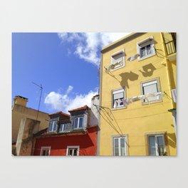 Laundry in Lisbon Canvas Print