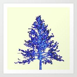 BLUE MOUNTAIN TREE ART Art Print