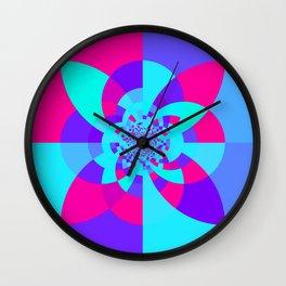 Kaleidoscope Mandala Unicorn Colors Wall Clock