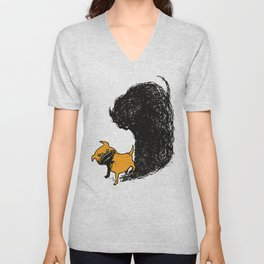 Haunted pug Unisex V-Neck