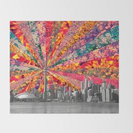 Blooming Toronto Throw Blanket