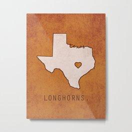 Texas Longhorns Metal Print