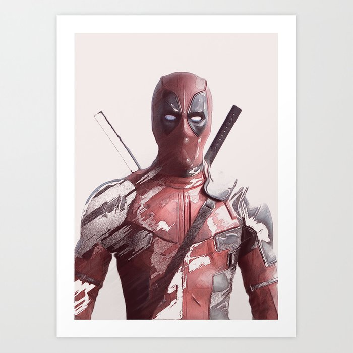 Wade Wilson - Merc with a mouth Art Print