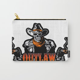 Cowboy Skull With Revolver Carry-All Pouch