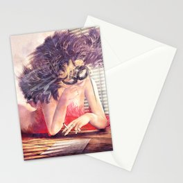 Painted Fan Dancer - Love Letters & Cigarettes Stationery Cards