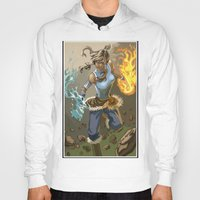the legend of korra Hoodies featuring The Legend Of Korra by Fran Agostinelli