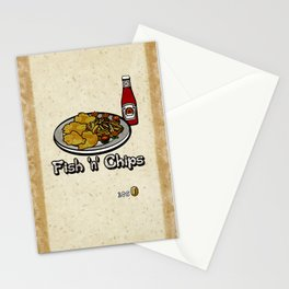 Fish 'n' Chips Stationery Cards