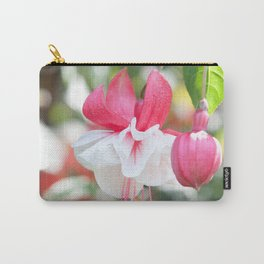 Fuchsia Blossom #1 #pink #white #art #society6 Carry-All Pouch