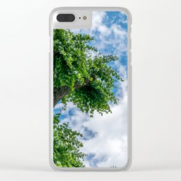 Tree & Bell Tower Clear iPhone Case