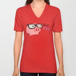 Smart Pig Unisex V-Neck