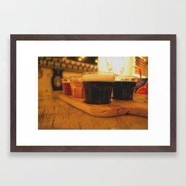 Beer Flight Print Framed Art Print