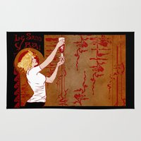 true blood Area & Throw Rugs featuring True Blood Nouveau by Nana Leonti