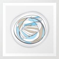 birdwing circle Art Print