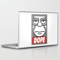 homer Laptop & iPad Skins featuring Dope Homer by MaNia Creations