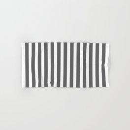 bold dark grey bars pattern Hand & Bath Towel