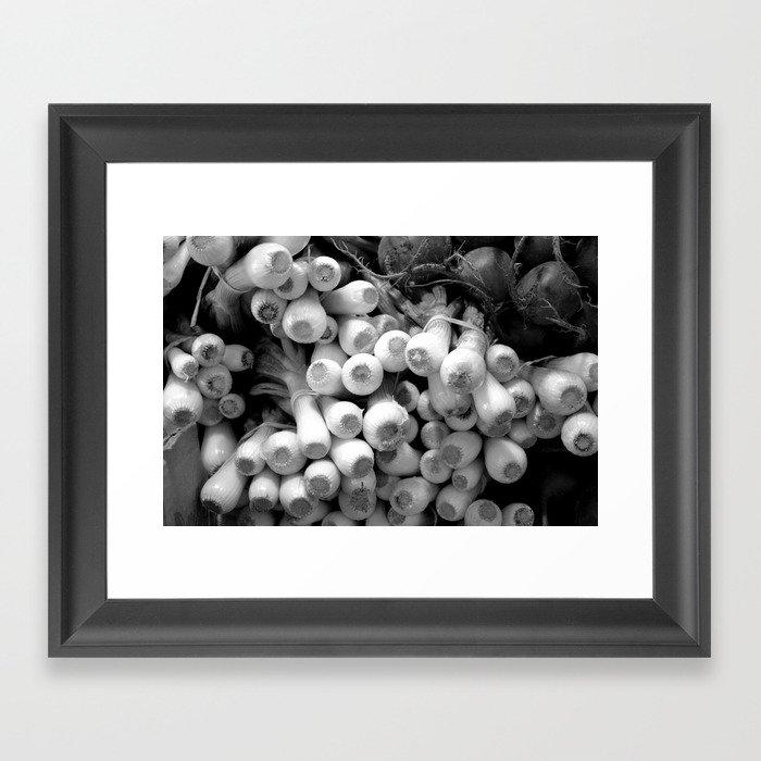 leeks Framed Art Print