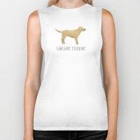 labrador Biker Tanks featuring Labrador Retriever by 52 Dogs