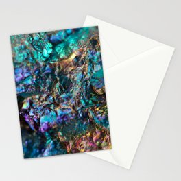 Turquoise Oil Slick Quartz Stationery Cards