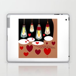 You Are the Light of My Life, Steampunk Style Valentine Laptop & iPad Skin