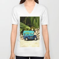 bar V-neck T-shirts featuring Jazz bar by Bitifoto