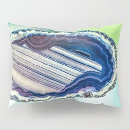 Blue purple geode Pillow Sham