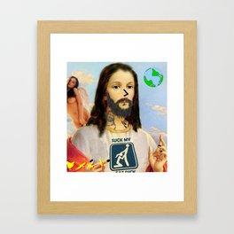 Hey, Zeus! Framed Art Print