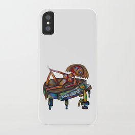 Every morning Jack plays the piano! iPhone Case