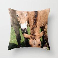 Przewalski Horses Throw Pillow