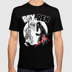 rey vs ren Black LARGE Mens Fitted Tee