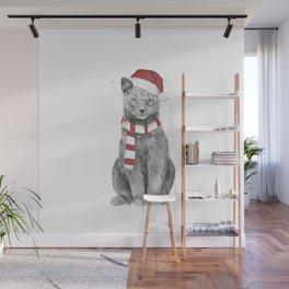 Xmas cat Wall Mural